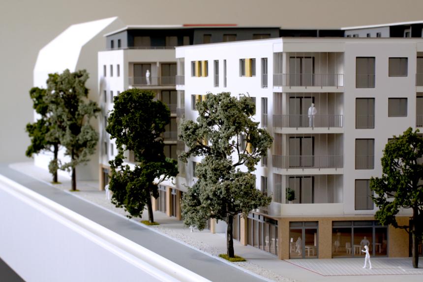 wohnhausprojekt 1 100 architekturmodellbau rico hecht. Black Bedroom Furniture Sets. Home Design Ideas